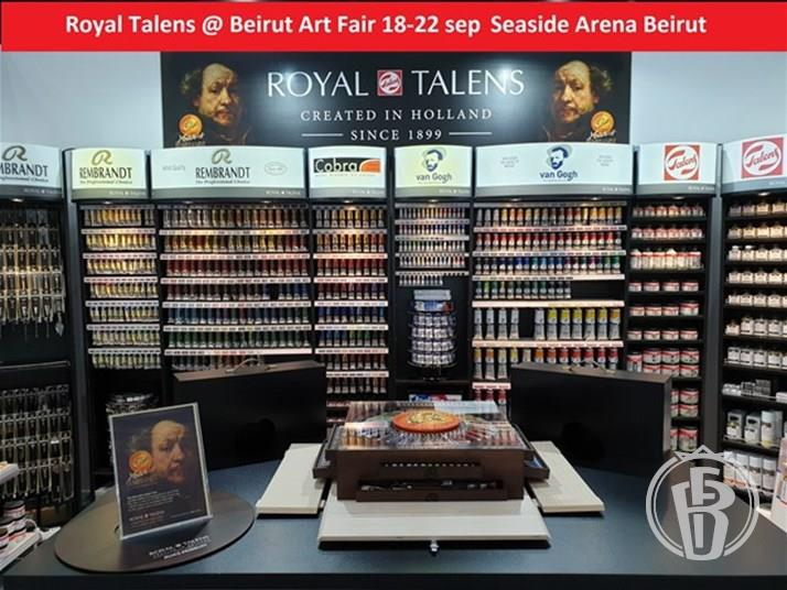 Royal Talens @ Beirut Art Fair 10th Edition (18-22 sep 2019) seaside Arena