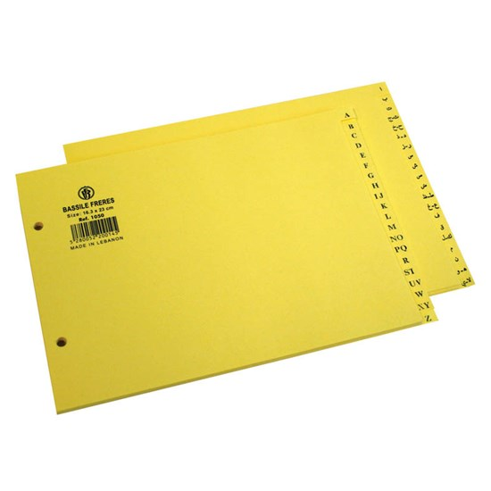 Files Index Sep. Bristol 180g- En-A5-Yellow