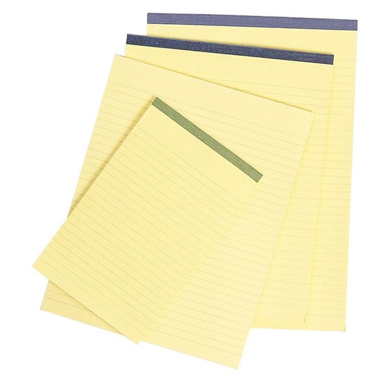 Notebook Yellow paper 80g- Lines- A5- 50sh