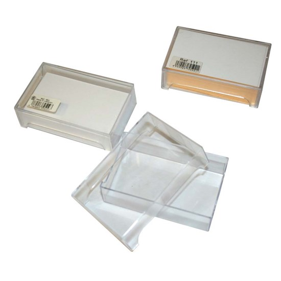 Transp. PVC Box for Business cards