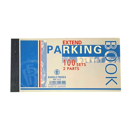 PARKING book- 100 sets- 2 parts 7 x 14cm
