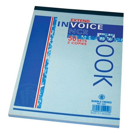 Invoice book NCR- 2 copies of 50sh each- B5