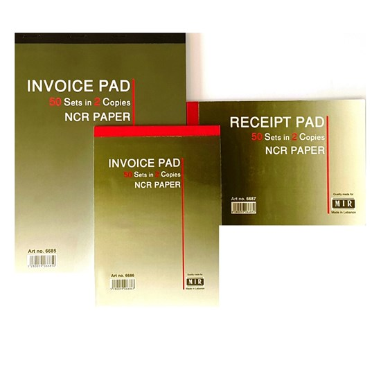 Receipt book NCR- 2 copies of 50sh each- B6