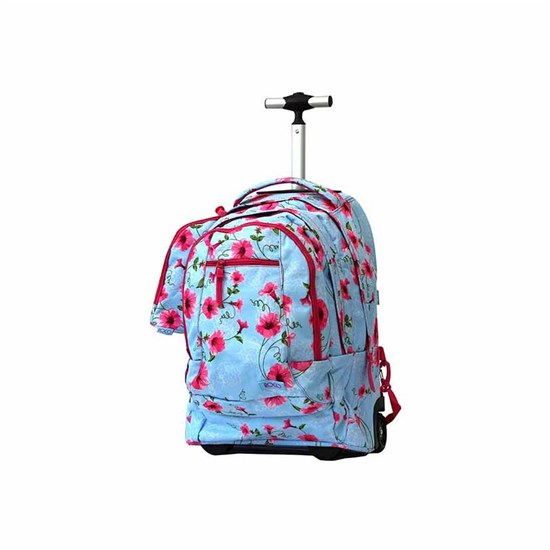 ROCO Trolley2 Floral Sky Blue 3 Zip. 19+P.Case