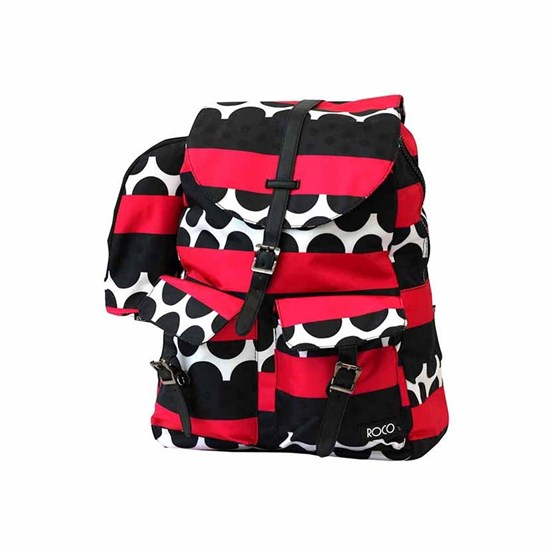 ROCO Backpack Printed Pink/Bk 1 Zip. 16 +P.Case