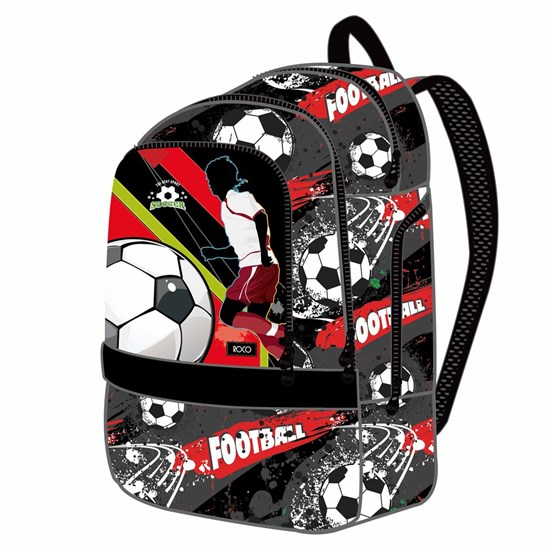 ROCO Backpack Soccer Black 3 Zip. 19