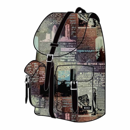 ROCO Backpack Printed 1 Zip. 16+P.Case