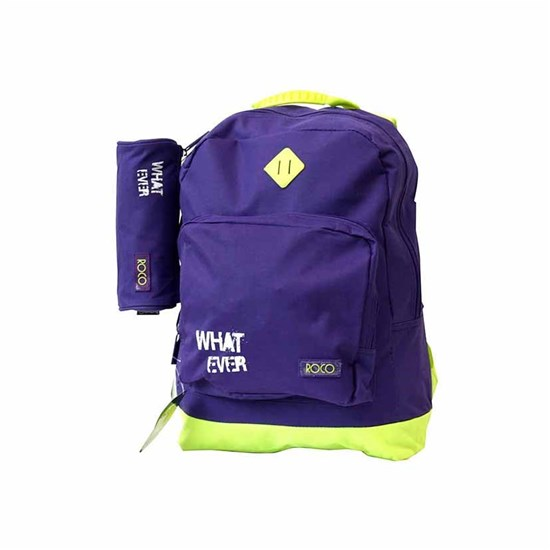ROCO Backpack Basic 2Zip. 17 Purple/Yell+P.Case