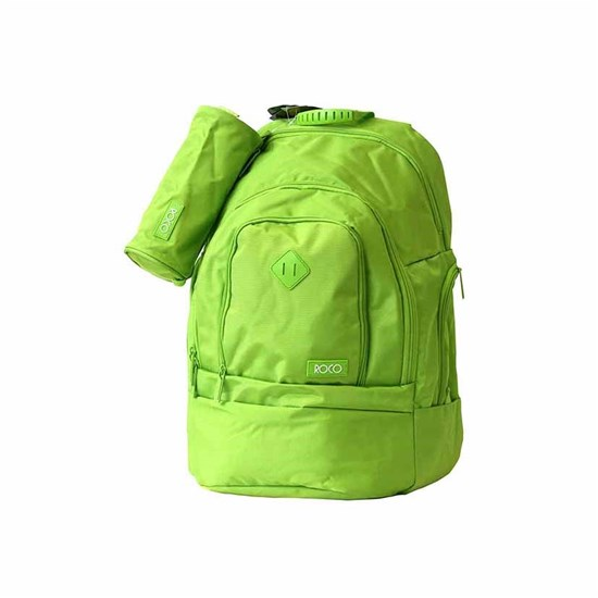 ROCO Backpack Fluo 3 Zip. 20 L.Green+P.Case