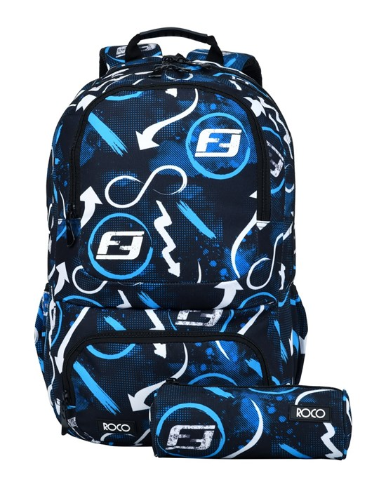 ROCO Backpack 18 3Zip FASTEST Black/Blue + P.Case