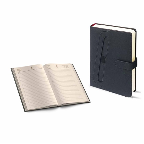 2020 Diary Daily Cream Paper 70g w/pen A5, Black