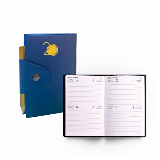 2020 Pocket Diary w/pencil- 2Days/Page- R.Op.