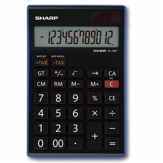 SHARP Desk Calculator Medium 12Dig, Tax function