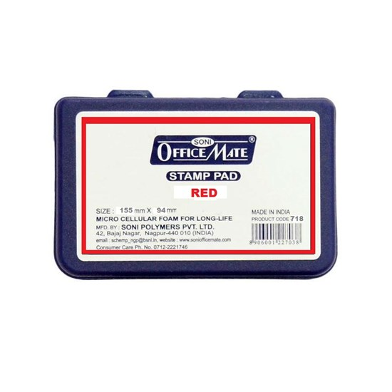 OFFICE MATE Stamp Pad Large 155 mm x 94 mm - Red