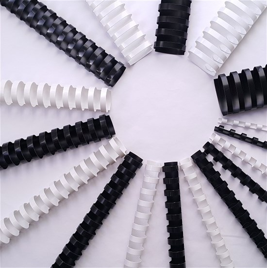EXTEND Plastic comb 16mm White Box of 100Pcs, A4