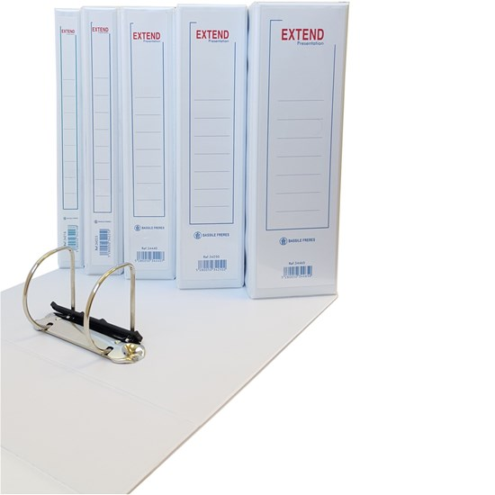EXTEND presentation binder 2 Rings 50mm, A4, White