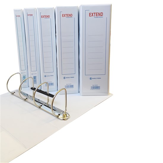 EXTEND presentation binder 4 Rings 50mm, A4, White
