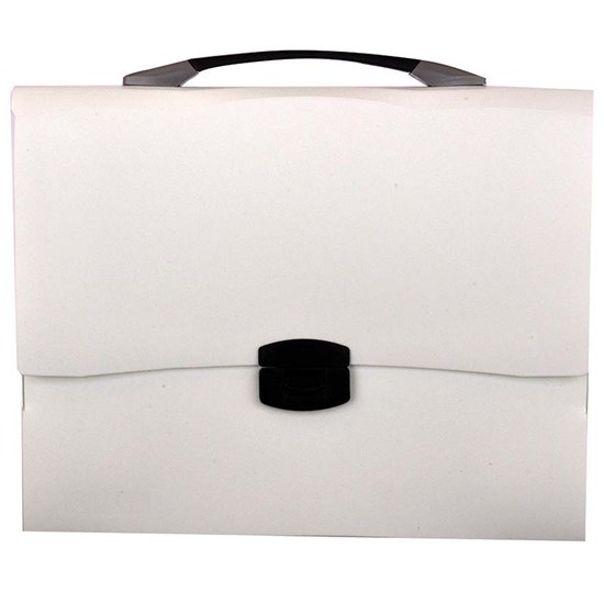EXTEND Document Bag w/handle and lock,A4, White