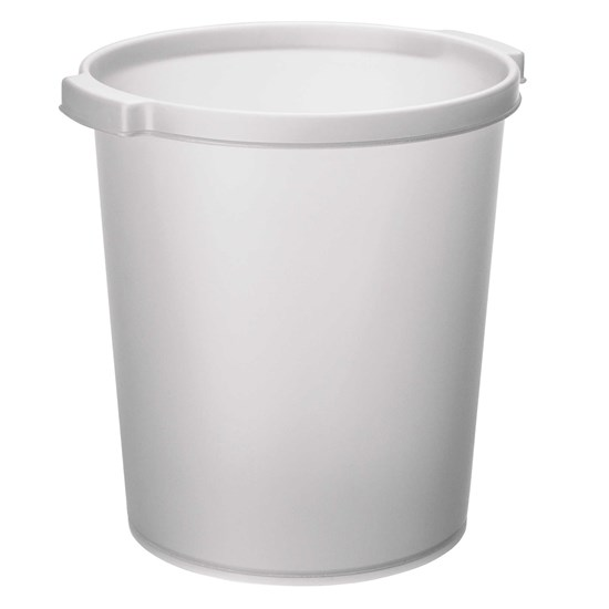 Jalema Silky paper Bin 15 Litres, White