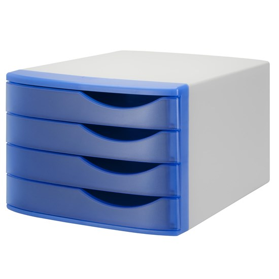 Jalema Desktop Drawer Silky set of 4, L.Grey/Blue