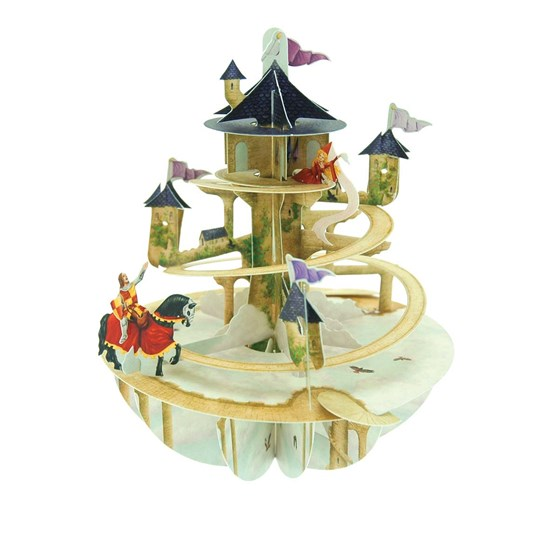 SANTORO 3D card-Pirouettes-Princess Tower