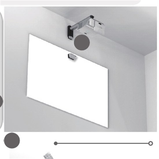 I3 PROJ.3303WIRC With Wall Mount 10T.Lazer Curtain
