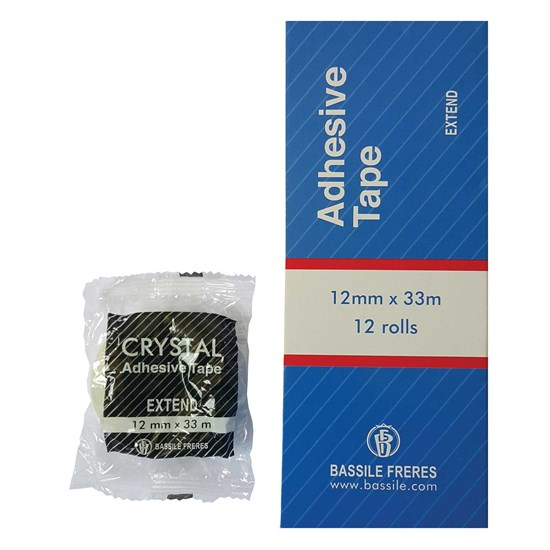 EXTEND Adhesive tape 12mm 33m- CRYSTAL Clear