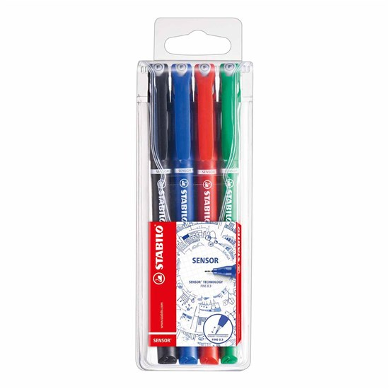 189/4 SENSOR fineliner 0.3mm 4 colors in Wallet