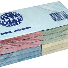 Global Notes 75gsm 100sh 75x75mm 4Pastel col (1DZ)