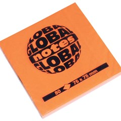 Global Notes 75gsm 100sh 75x75mm Fluo Orange