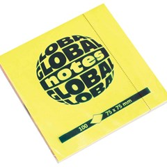 Global Notes 75gsm 100sh 75x75mm 4 Mix Fluo colors