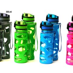 Water Bottle Plastic 550ml Stone Design 4colors