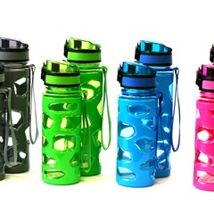 Water Bottle Plastic 420ml Stone Design 4colors