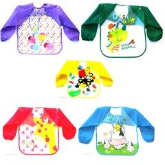 Children Apron Nylon with sleeves 5 designs