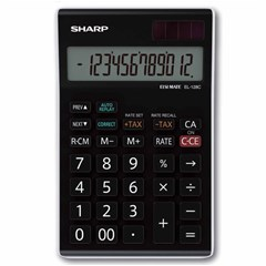 SHARP Desk Calculator Compact 12Dig, Tax Function
