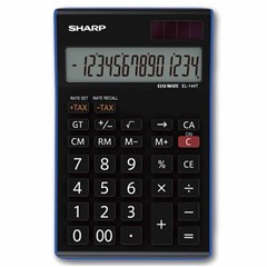SHARP Desk Calculator Compact 14Dig, Tax Function