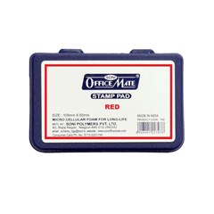 OFFICE MATE Stamp Pad Medium  108 mm x 65 mm Red