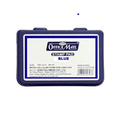 OFFICE MATE Stamp Pad Large 155 mm x 94 mm - Blue