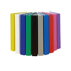 BRIO Ring Binder PP 4R 30mm A4 10 Colors Asstd