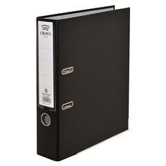 CROWN Letter-file PP 8cm A4 Black