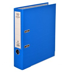 CROWN Letter-file PP 8cm A4 Blue
