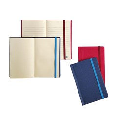 Pocket Notebook 70g Binded W/Elastic Cord Plain A6