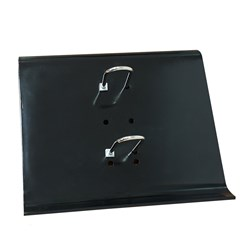 Calendar Stand-PVC-18x19cm w/2 metal holder-Black