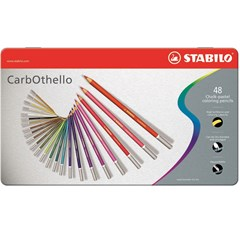 1448-6 CarbOthello Pencil 48 colors in metal box