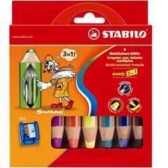 Stabilo woody 6 pcs wallet with sharpener