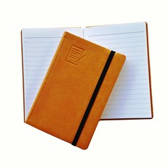 Pocket Note Book PU Cover 70g Lined w/Cord