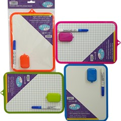 BRIO FUN dry Erase Board with pen & duster A4