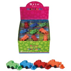 BRIO FUN Eraser BULLDOZER 4 col in Disp