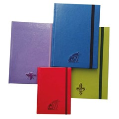 Embroidery Notebook w/Elastic 90G, Lines,104sh, B5