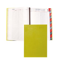 2017 Diary Daily PU Cov. 2col,L.Op,Monthly Tabs B5